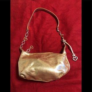Brighton shoulder handbag silver and gold